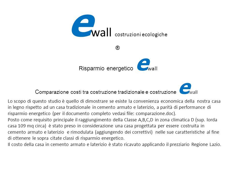 Risparmio energetico e wall C omparazione costi tra costruzione tradizionale e costruzione e wall Lo scopo di questo studio è quello di dimostrare se