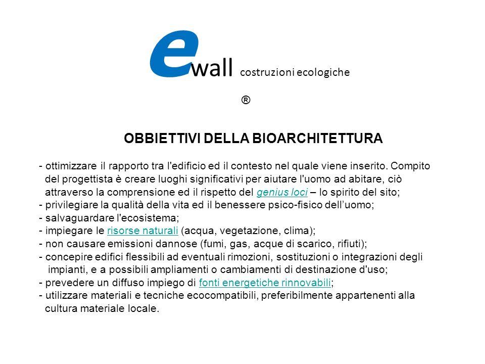 La certificazione INBAR (Istituto Nazionale Bioarchitettura) Consente lattribuzione del Marchio Bioarchitettura di Qualità energetico ambientale.