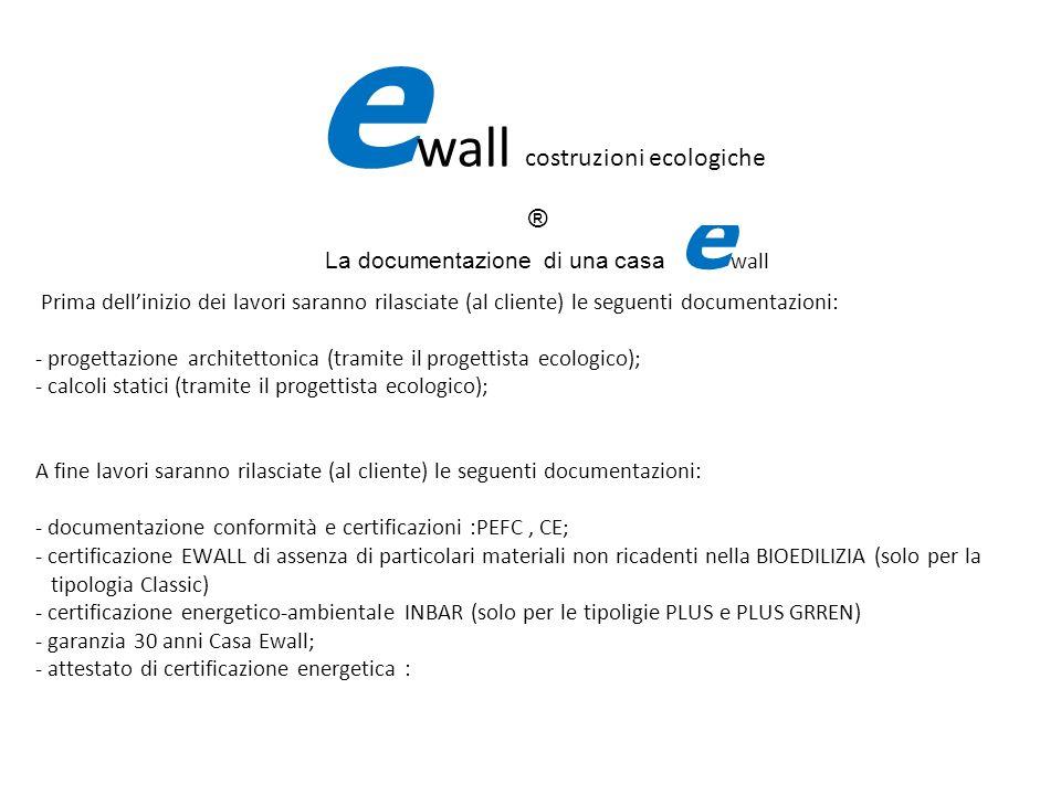 La documentazione di una casa e wall Prima dellinizio dei lavori saranno rilasciate (al cliente) le seguenti documentazioni: - progettazione architett