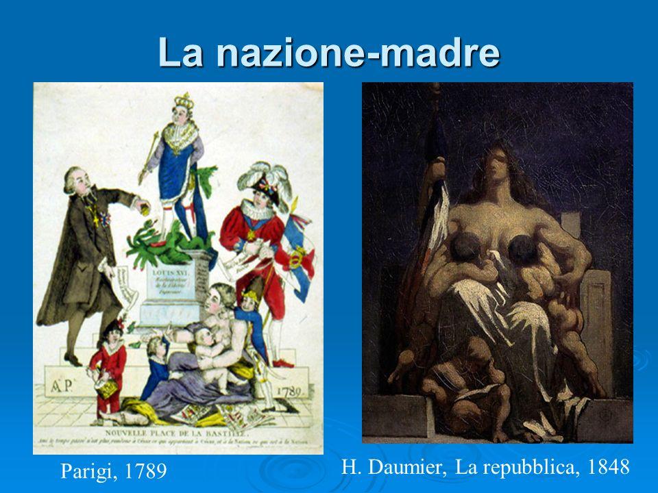 La nazione-madre Parigi, 1789 H. Daumier, La repubblica, 1848