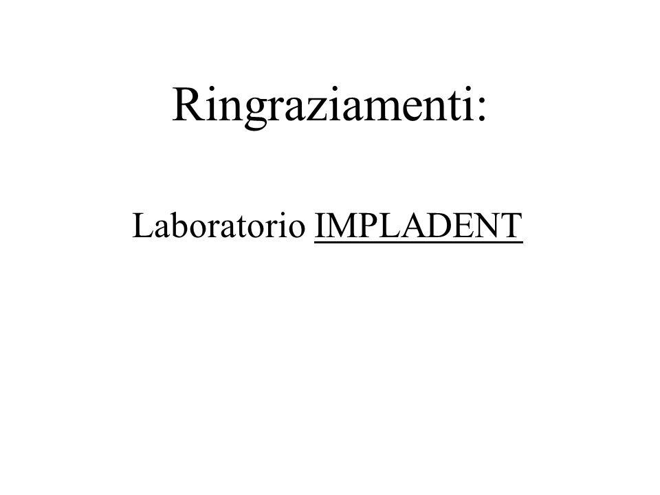 Ringraziamenti: Laboratorio IMPLADENT