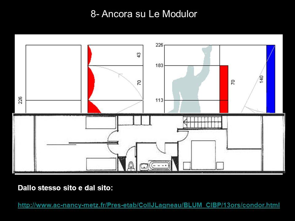 8- Ancora su Le Modulor Dallo stesso sito e dal sito: http://www.ac-nancy-metz.fr/Pres-etab/CollJLagneau/BLUM_CIBP/13ors/condor.html