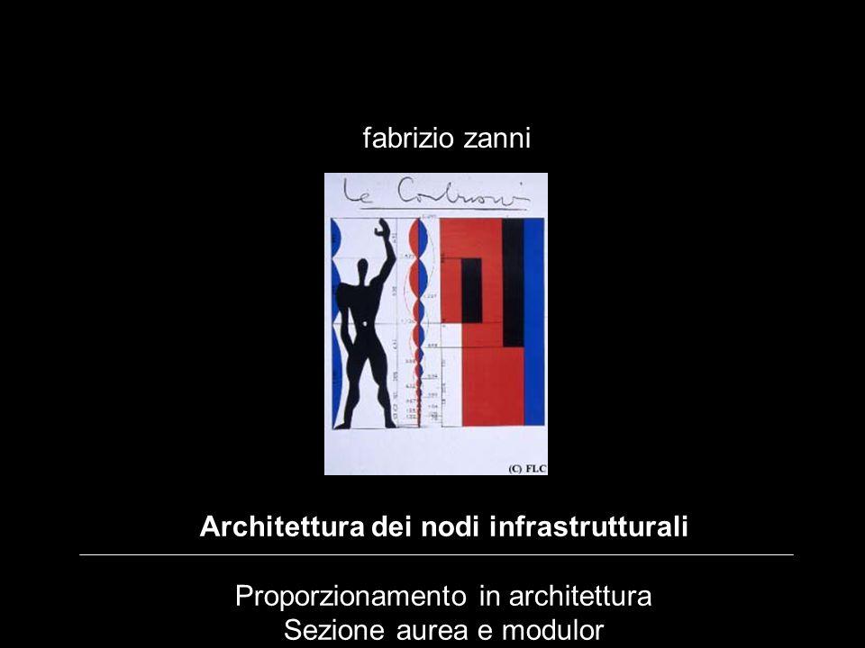 Architettura dei nodi infrastrutturali Proporzionamento in architettura Sezione aurea e modulor fabrizio zanni