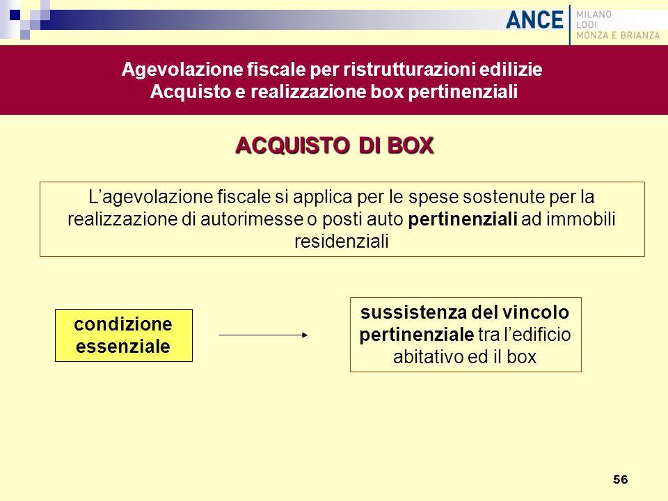 Lagevolazione fiscale si applica per le spese sostenute per la realizzazione di autorimesse o posti auto pertinenziali ad immobili residenziali condiz