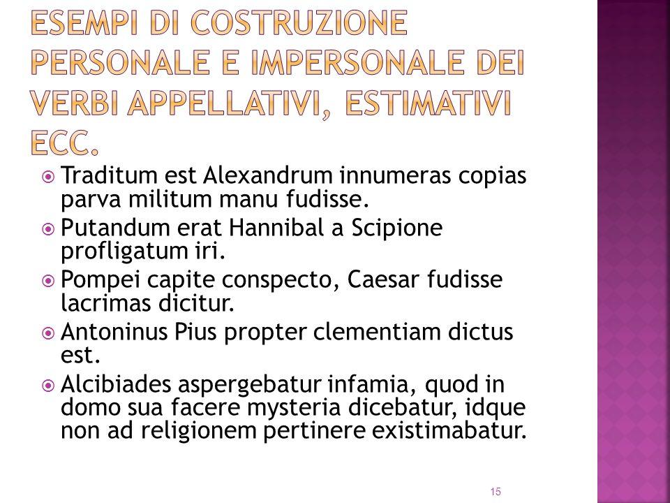 Traditum est Alexandrum innumeras copias parva militum manu fudisse.