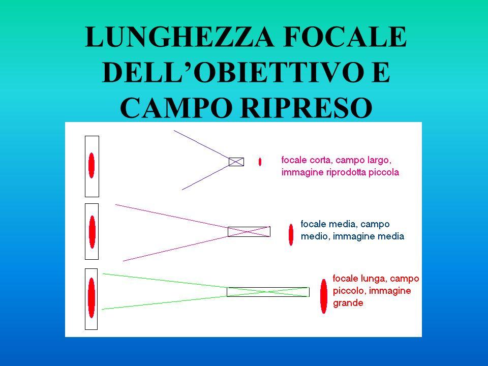 LUNGHEZZA FOCALE DELLOBIETTIVO E CAMPO RIPRESO