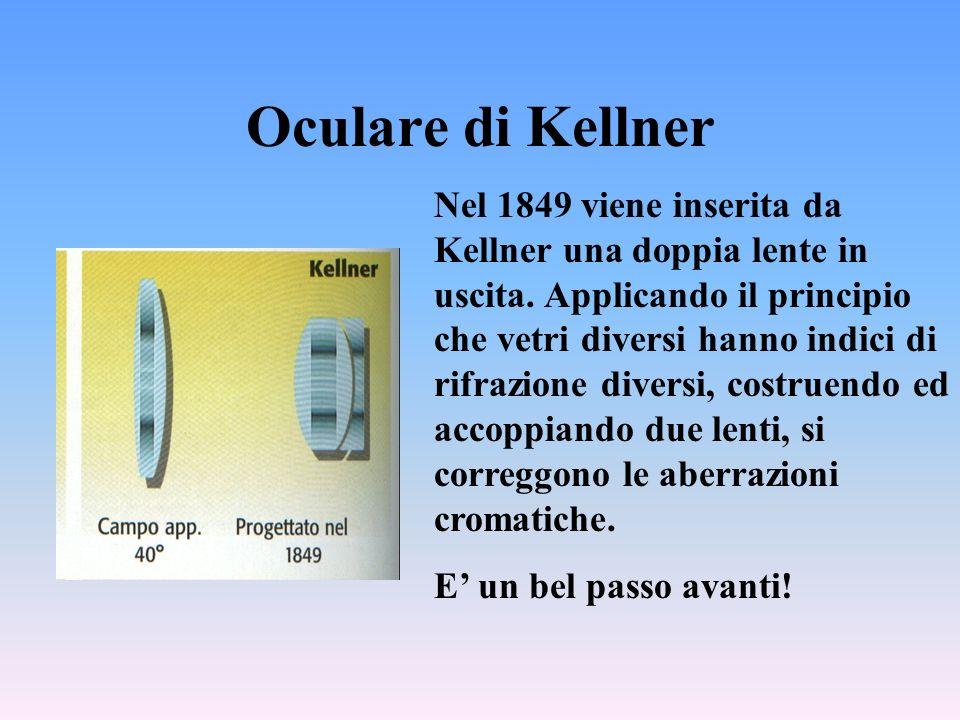 Oculare di Kellner Nel 1849 viene inserita da Kellner una doppia lente in uscita.