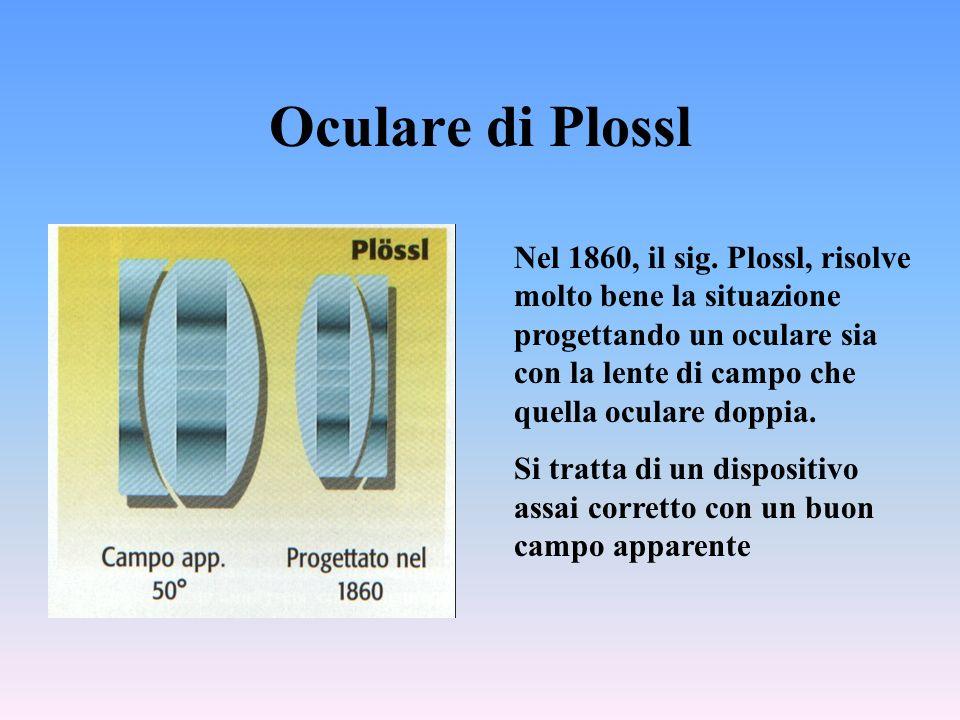 Oculare di Plossl Nel 1860, il sig.