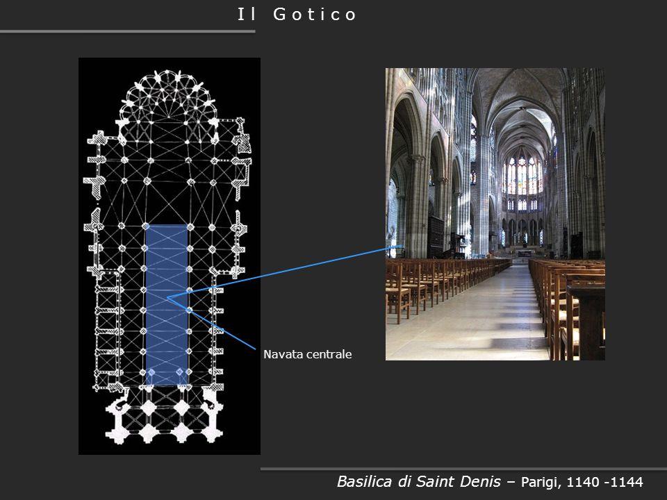 Facciata laterale Basilica di Saint Denis – Parigi, 1140 -1144 I l G o t i c o