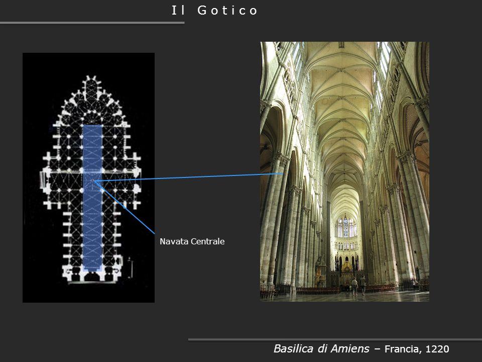 Facciata Basilica di Amiens – Francia, 1220 I l G o t i c o Gallerie Loggia Portali