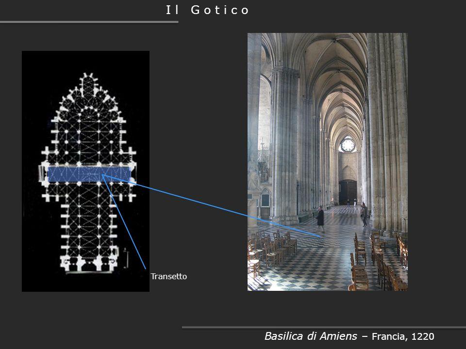 I l G o t i c o Basilica di Amiens – Francia, 1220 Navata laterale