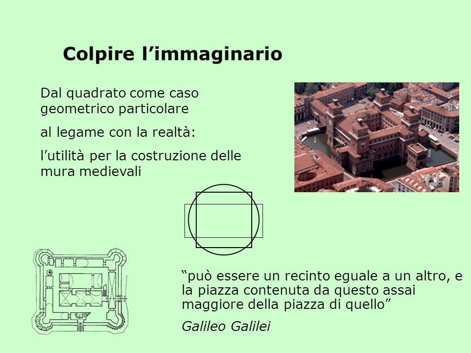 Dal quadrato come caso geometrico particolare al legame con la realtà: lutilità per la costruzione delle mura medievali Colpire limmaginario può esser