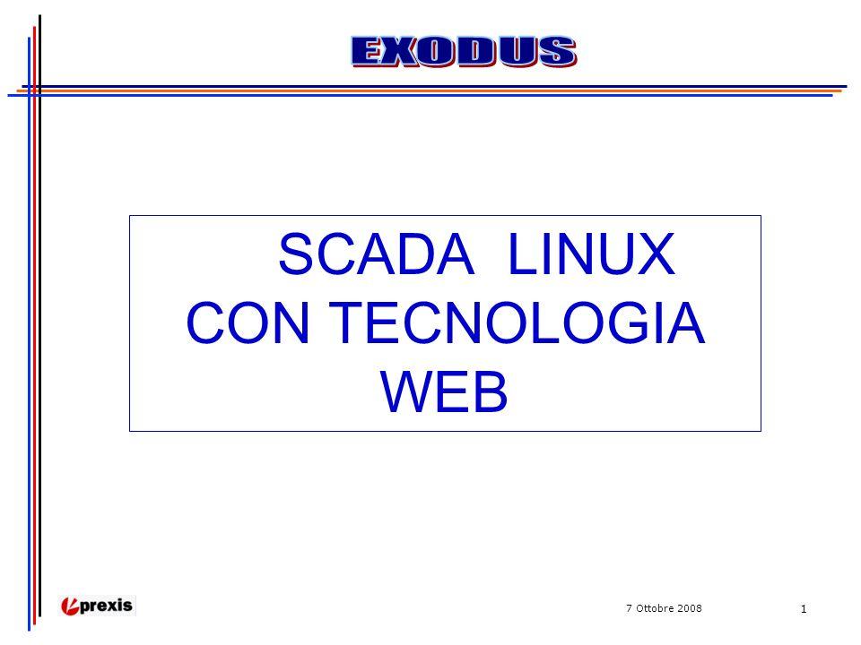 7 Ottobre 2008 1 SCADA LINUX CON TECNOLOGIA WEB