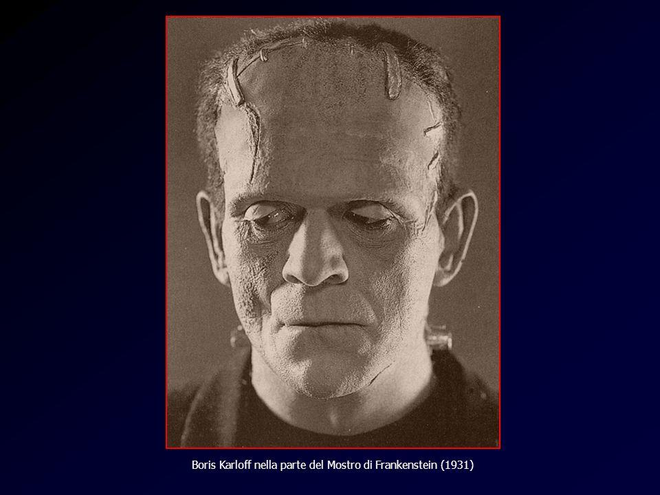Frankenstein Boris Karloff nella parte del Mostro di Frankenstein (1931)