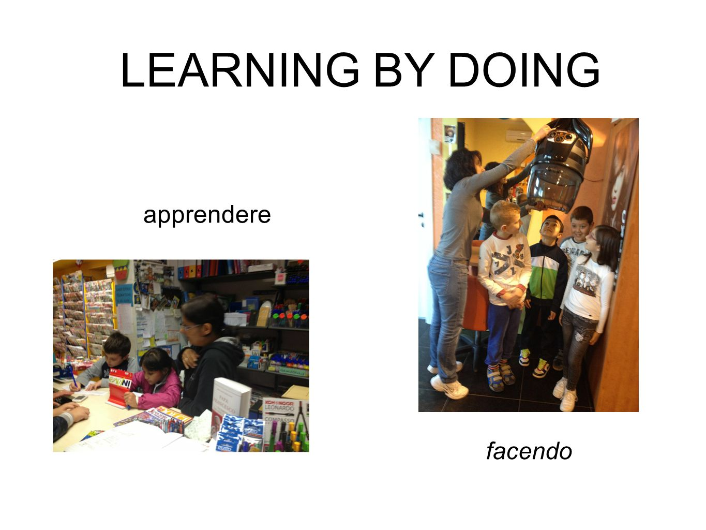 apprendere LEARNING BY DOING facendo