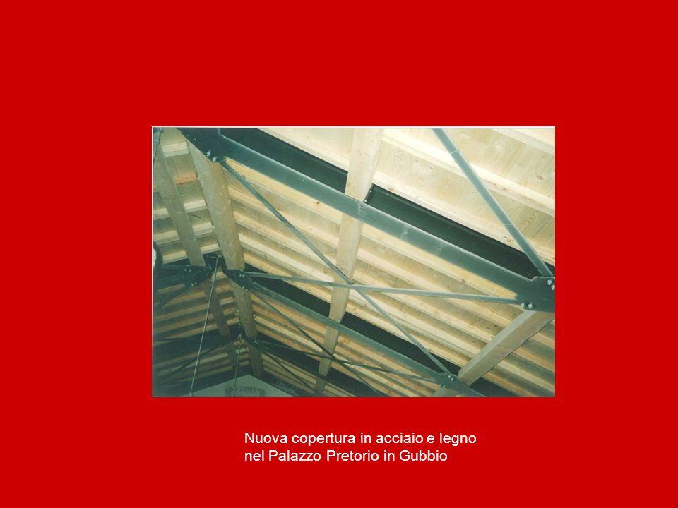 Nuova copertura in acciaio e legno nel Palazzo Pretorio in Gubbio