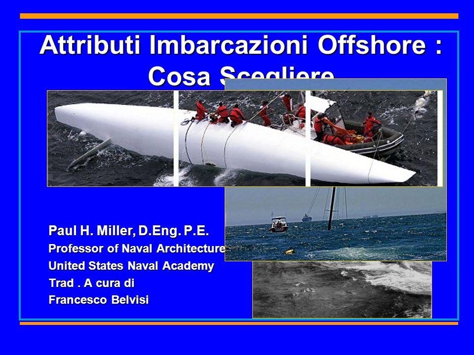 2 Marinità per essere marina una barca deve sapersi difendere dall ingresso dacqua e dai pericoli del mare… Un classico esempio di Progetto marino.