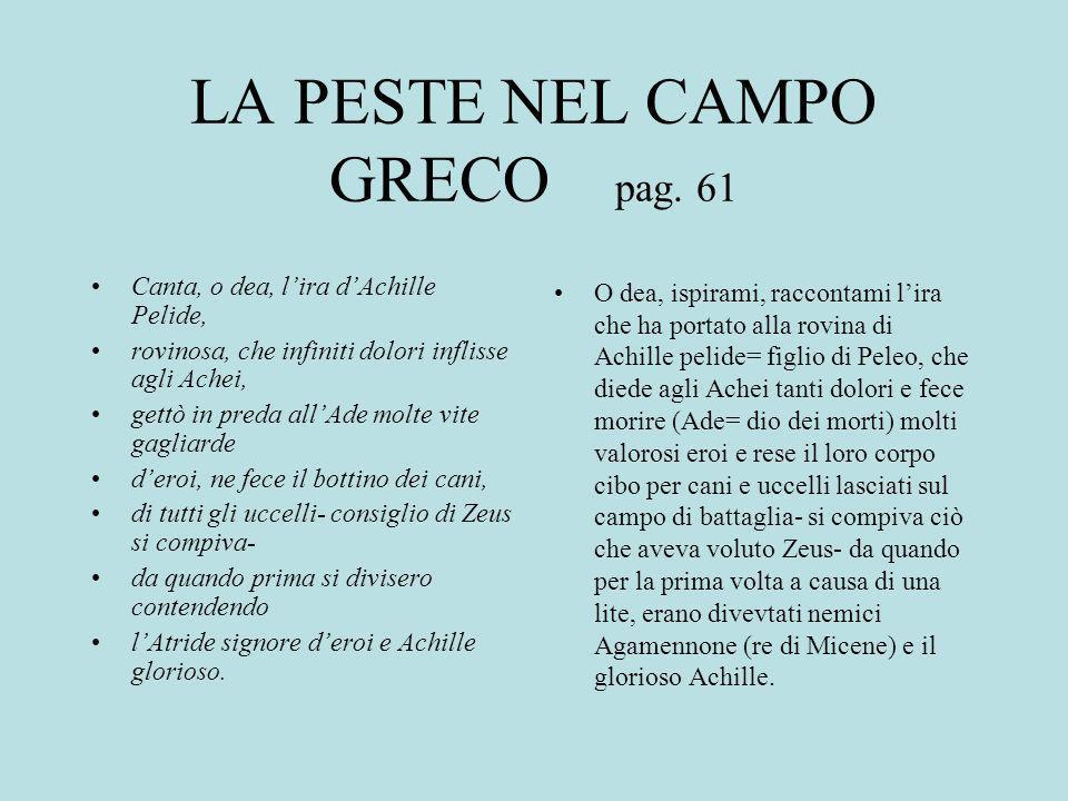 LA PESTE NEL CAMPO GRECO pag.