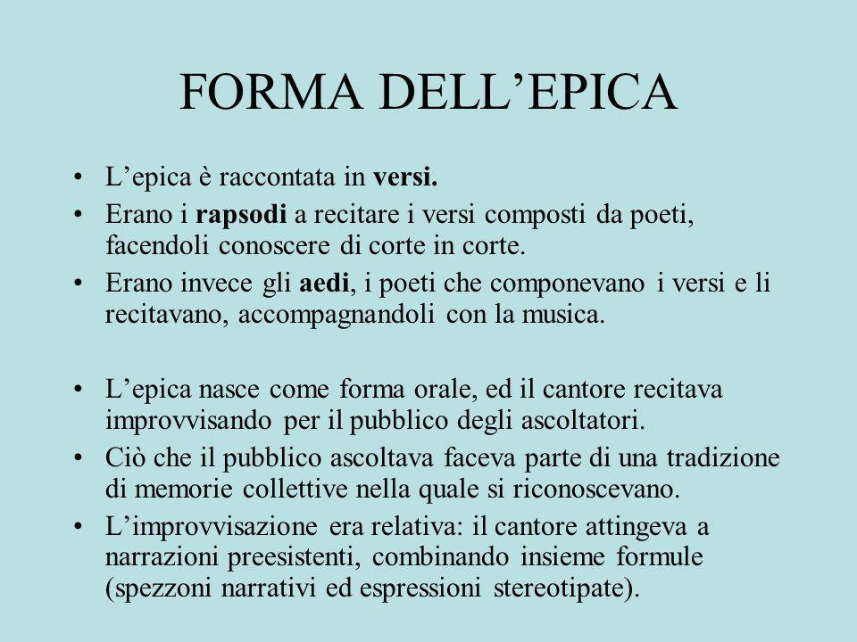 FORMA DELLEPICA Lepica è raccontata in versi.