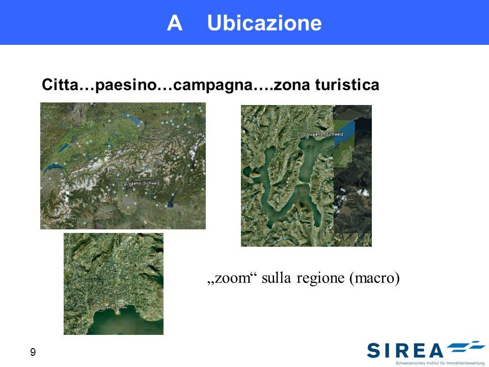 A Ubicazione Citta…paesino…campagna….zona turistica 9 zoom sulla regione (macro)