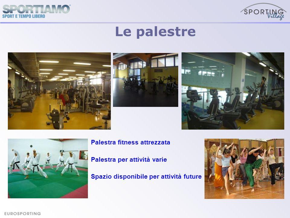 Le palestre Palestra fitness attrezzata Palestra per attività varie Spazio disponibile per attività future
