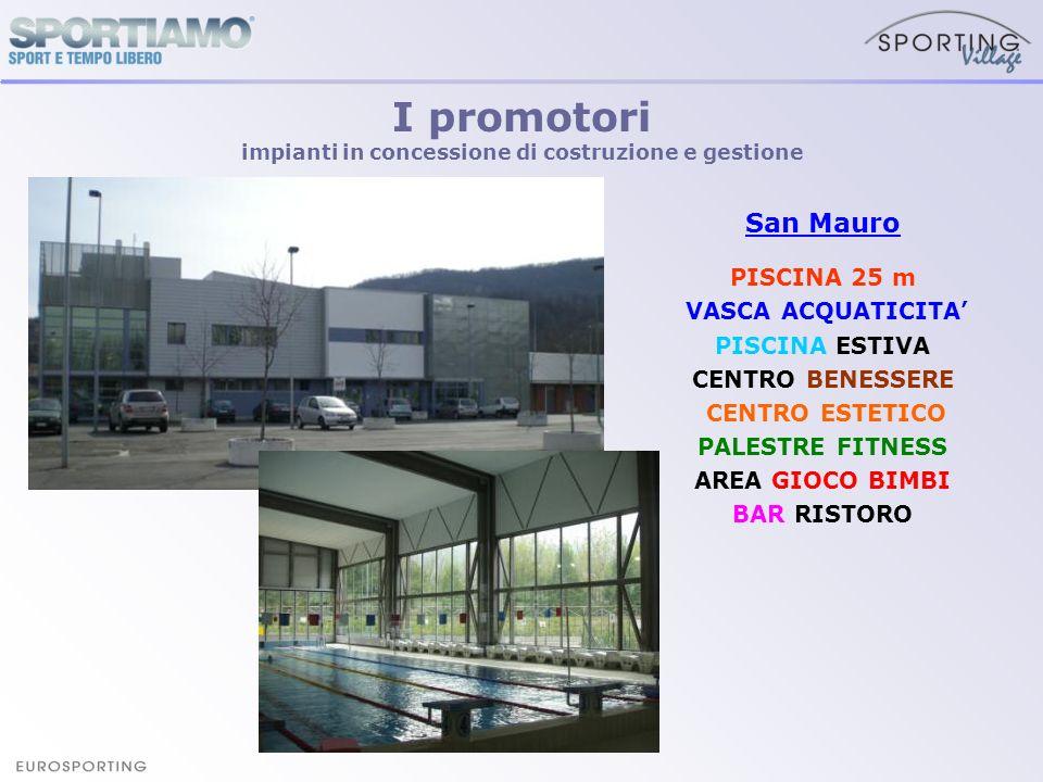 San Mauro PISCINA 25 m VASCA ACQUATICITA PISCINA ESTIVA CENTRO BENESSERE CENTRO ESTETICO PALESTRE FITNESS AREA GIOCO BIMBI BAR RISTORO I promotori imp