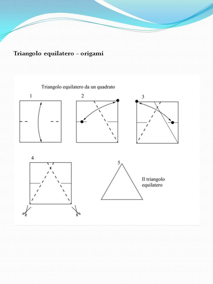 Triangolo equilatero – origami