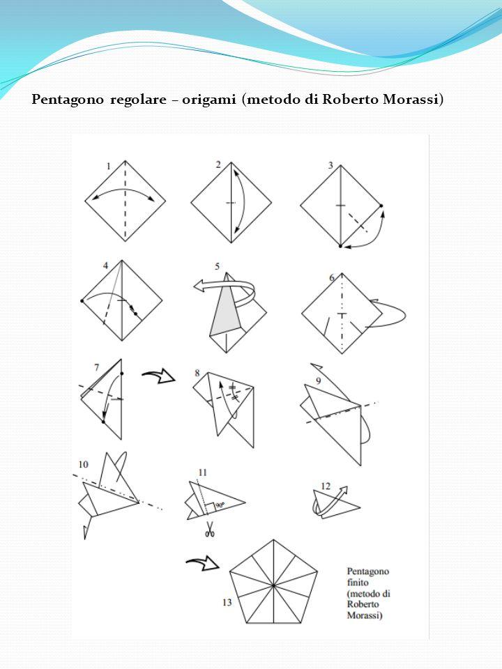 Pentagono regolare – origami (metodo di Roberto Morassi)