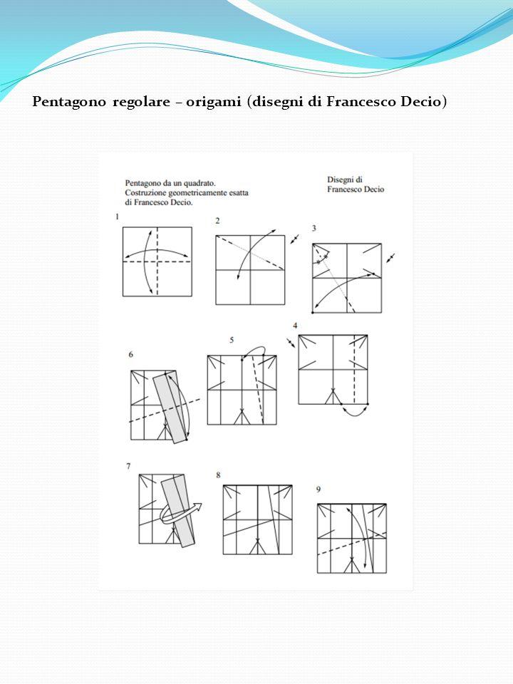 Pentagono regolare – origami (disegni di Francesco Decio)