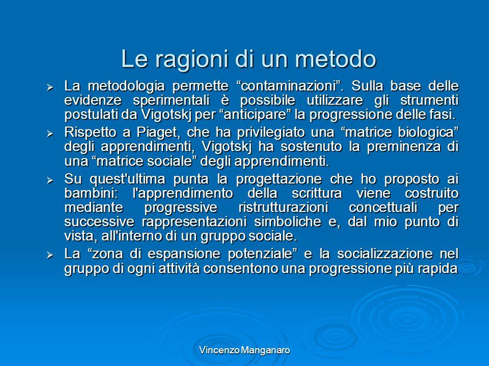 Vincenzo Manganaro Le ragioni di un metodo La metodologia permette contaminazioni. Sulla base delle evidenze sperimentali è possibile utilizzare gli s