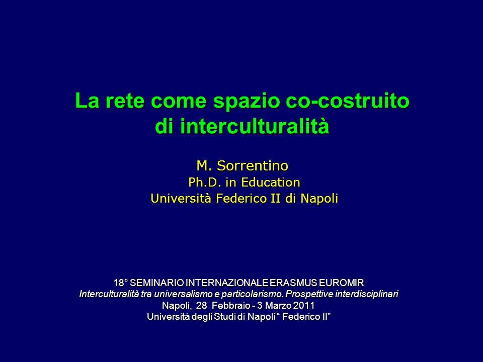 La rete come spazio co-costruito di interculturalità M.