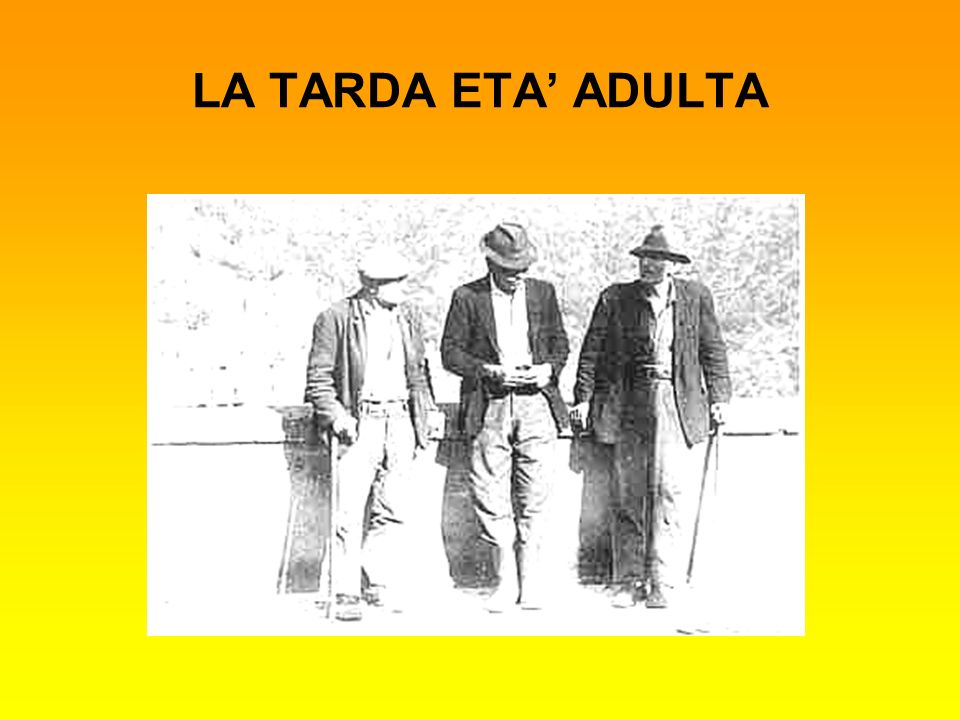 LA TARDA ETA ADULTA