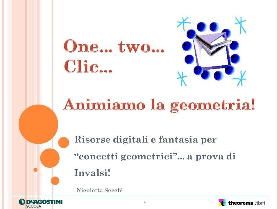 1 Risorse digitali e fantasia per concetti geometrici... a prova di Invalsi! Nicoletta Secchi
