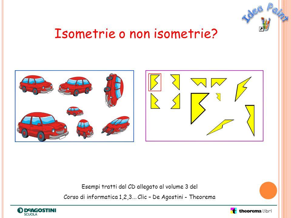 Isometrie o non isometrie? Esempi tratti dal CD allegato al volume 3 del Corso di informatica 1,2,3... Clic – De Agostini - Theorema