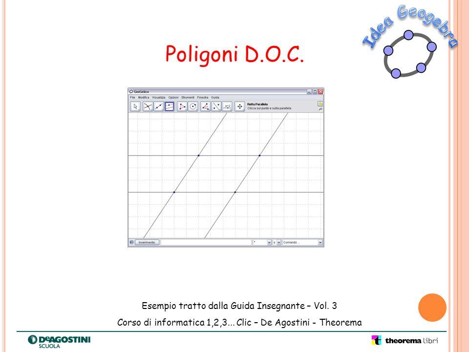 Poligoni D.O.C. Esempio tratto dalla Guida Insegnante – Vol. 3 Corso di informatica 1,2,3... Clic – De Agostini - Theorema