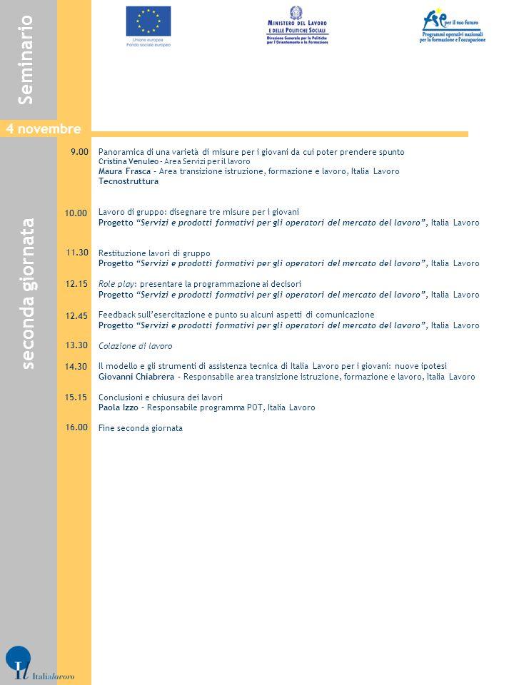 Panoramica di una varietà di misure per i giovani da cui poter prendere spunto Cristina Venuleo – Area Servizi per il lavoro Maura Frasca – Area trans