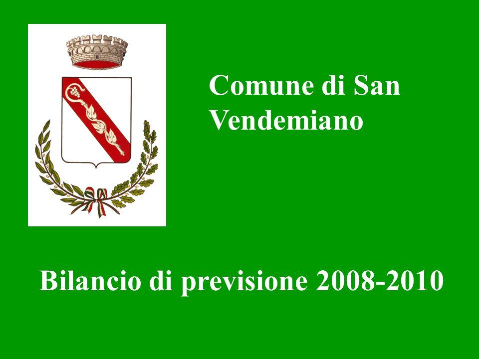 Comune di San Vendemiano Bilancio di previsione 2008-2010
