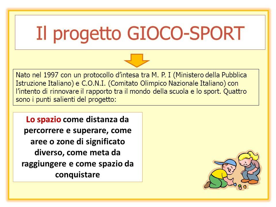 Nato nel 1997 con un protocollo dintesa tra M. P. I (Ministero della Pubblica Istruzione Italiano) e C.O.N.I. (Comitato Olimpico Nazionale Italiano) c