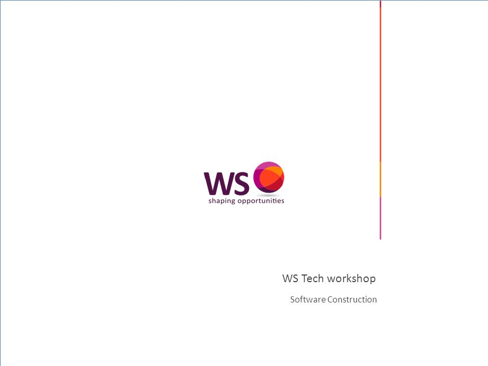 © 2008 WS (WebScience srl) – All rights reserved Indice WS © | 2 La costruzione del software Il design nella costruzione Classi che funzionano Routine di qualità Programmazione difensiva La potenza delle variabili Usare i condizionali Controllare i loop Ottimizzare con giudizio