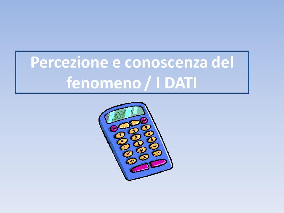 Percezione e conoscenza del fenomeno / I DATI