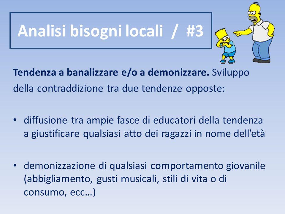 Analisi bisogni locali / #3 Tendenza a banalizzare e/o a demonizzare.