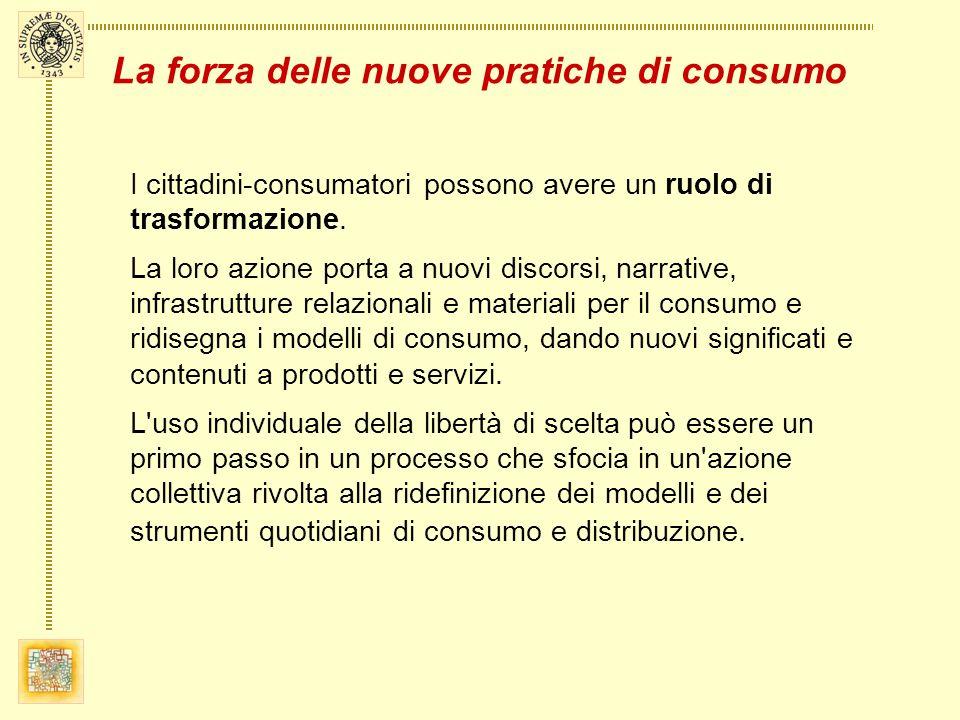 I cittadini-consumatori possono avere un ruolo di trasformazione.