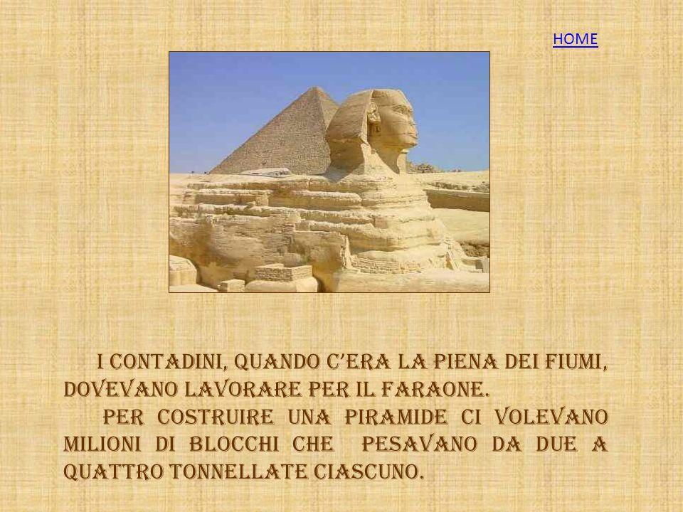 La costruzione delle piramidi E un opera colossale.