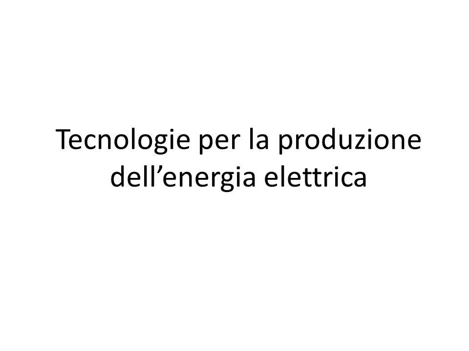 Sono utilizzate le seguenti tecnologie Idroelettrico Carbone Termoelettrico Geotermico Eolico Fotovoltaico Biomasse Cogenerazione