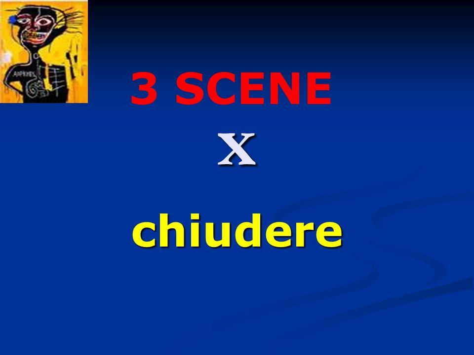 x chiudere 3 SCENE