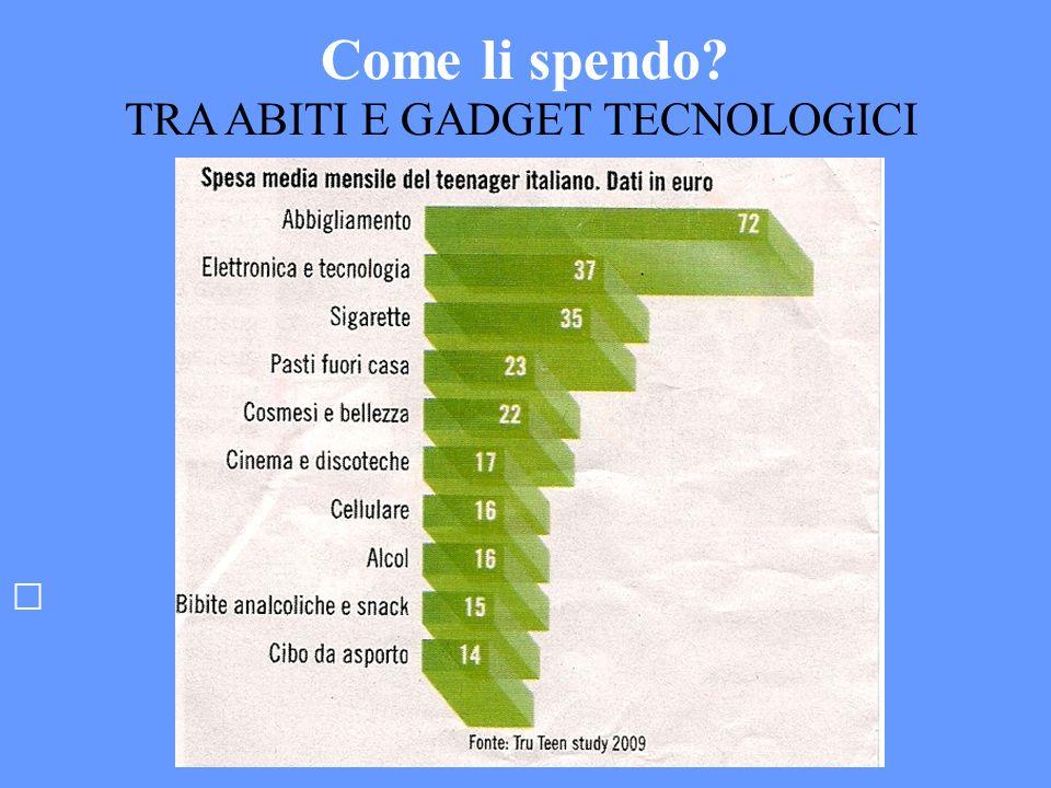 Come li spendo? TRA ABITI E GADGET TECNOLOGICI