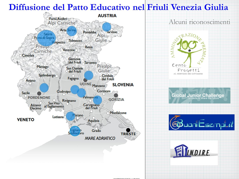 Alcuni riconoscimenti Diffusione del Patto Educativo nel Friuli Venezia Giulia