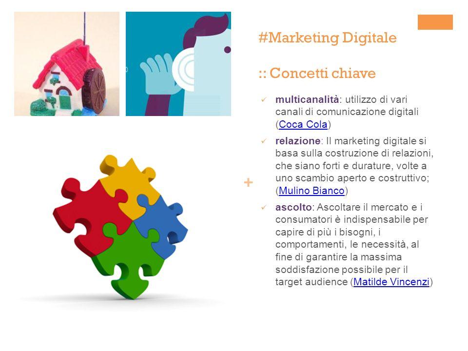 + #Marketing Digitale :: Concetti chiave multicanalità: utilizzo di vari canali di comunicazione digitali (Coca Cola)Coca Cola relazione: Il marketing
