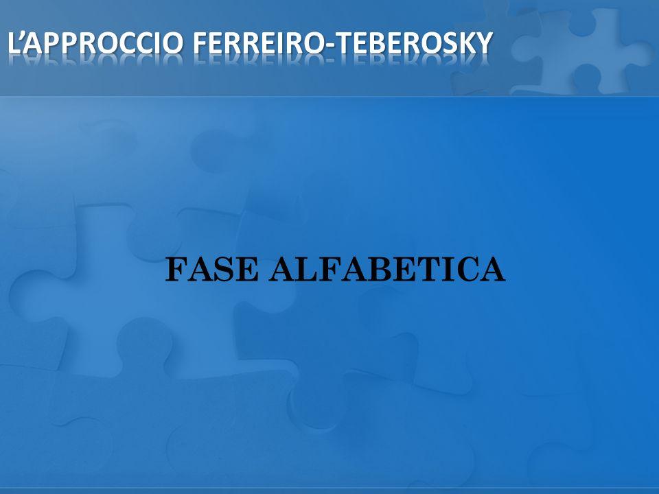 FASE ALFABETICA