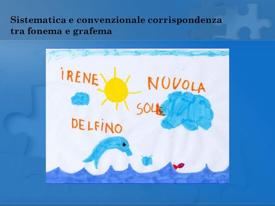 Sistematica e convenzionale corrispondenza tra fonema e grafema